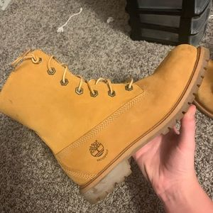 furry timberland boots